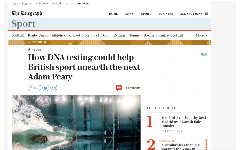 Dnafit media centre for the latest news published articles us how dna testing could help british sport unearth the next adam peaty malvernweather Image collections