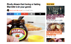 Study shows that loving or hating Marmite is in your genes