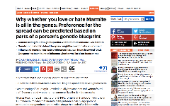Dnafit mediecenter for de seneste nyheder publicerede artikler why whether you love or hate marmite is all in the genes preference for the spread can be predicted based on parts of a persons genetic blueprint malvernweather Image collections