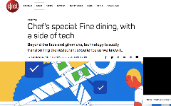 Chef's special: Fine dining, with a side of tech