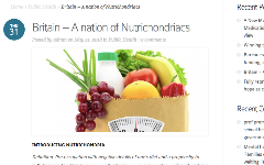 Britain - a nation of Nutrichondriacs