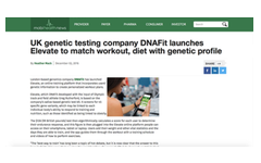 UK genetic testing company DNAFit launches Elevate to match workout, diet with genetic profile